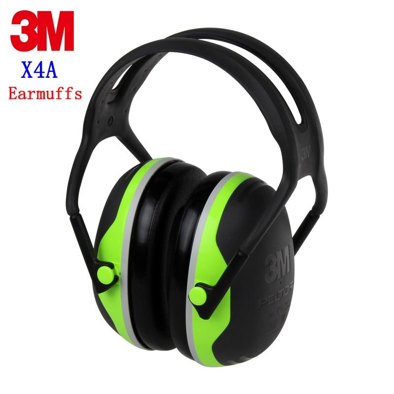 3M X4A Sound insulation Earmuffs Genuine security 3M ear protector against shooting Sleep Metal noise Mechanical noise earmuffs постельные принадлежности sound choice sound sleep 3d doraemon smn001kt f