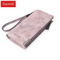 Soomile Purse Women Wallets Women S Zipper Coin Clutch Famous Brand Designer Long Wallet Women S