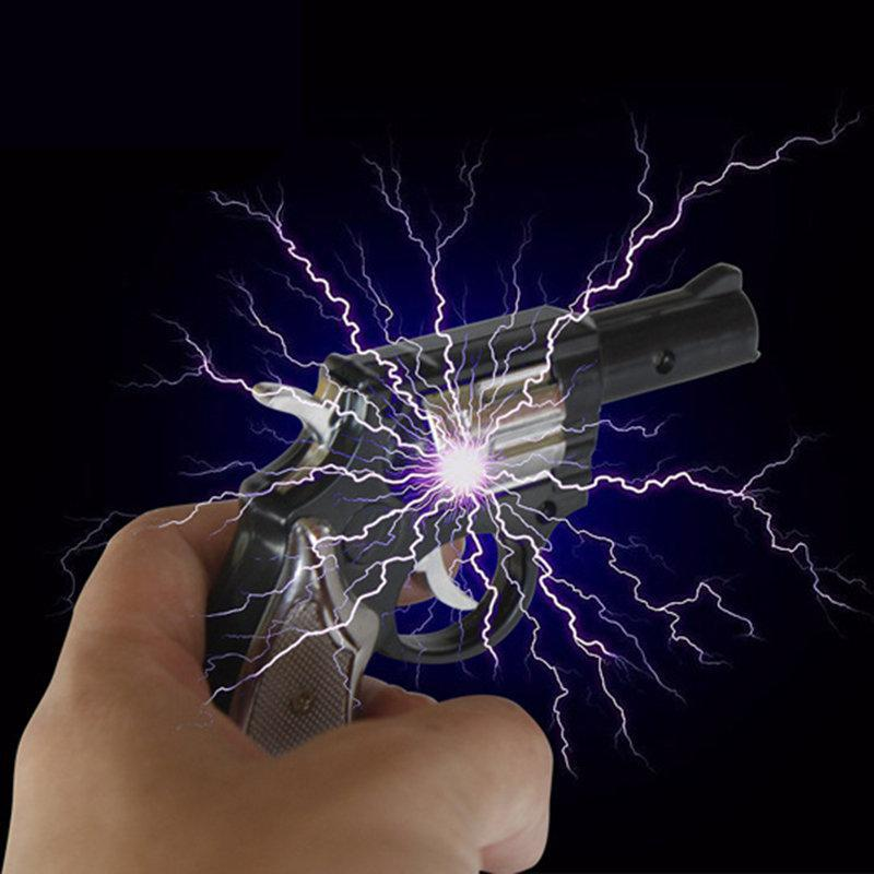 New Electric Shocking Gag Gun Pistol Dual Use Electric Man Pistol Tricky Creative April Fools' Day Toys For Adult And Kids Toys