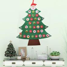 24/31 Days Hanging Christmas Advent Calendar Non-woven Fabric Christmas Tree Countdown Calendar Christmas Decoration For Home все цены