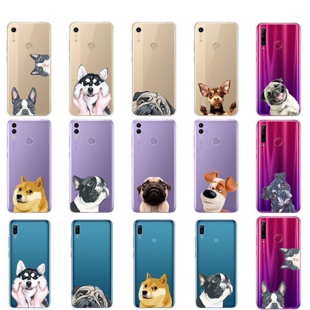 <font><b>Case</b></font> For <font><b>Huawei</b></font> Honor 8A PRO 8C 8X 10 i play <font><b>case</b></font> back cover for <font><b>huawei</b></font> Y5 Y6 <font><b>Y7</b></font> Y9 <font><b>2019</b></font> pro Prime Dog and cat husky akita image