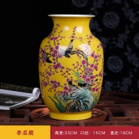 Jingdezhen ceramics pastel porcelain vase hand painted flowers and birds vase living room home craft ornaments ornaments
