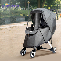 Baby Stroller Rain Cover Universal Wind Dust Weather Shield with Windows For Strollers Pushchairs Stroller Accessories