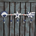 Mediterranean style Clothes Hats Shells and Starfish  Metal Hook Home Decoration