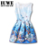 Vestido da menina de Verão 2016 Vestidos para Meninas de 12-16 Anos mangas Impresso Robe Petite Fille Ete Robe Enfant Vetement Fille 12