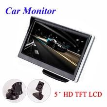 Monitor de carro tft lcd 5 Polegada, tela lcd digital 16:9 800*480 entrada de vídeo bidirecional colorido para reversa câmera de visão traseira dvd vcd