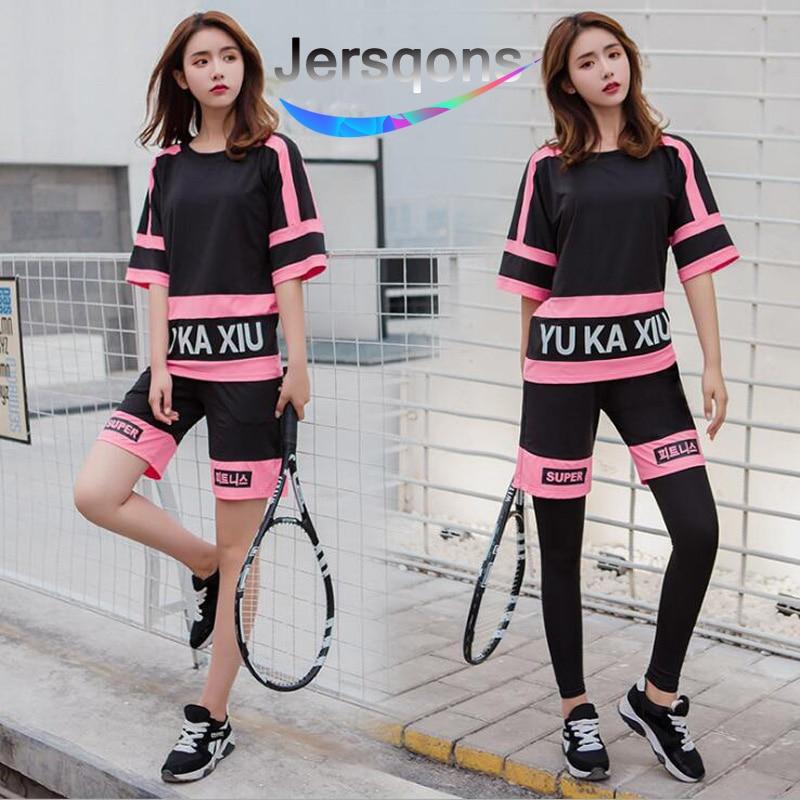 ★  Jesqons Women Yoga Suits Спортивная одежда для фитнеса Спортивный бюстгальтер + спортивные леггинсы  ✔