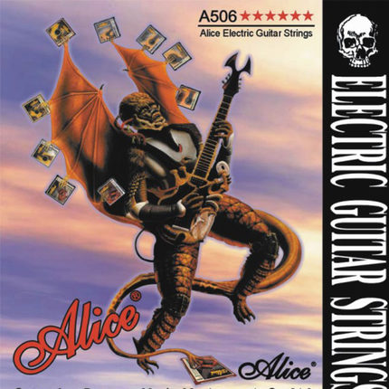 Alice A506 Steel Core Plated Steel Coated Nickel Alloy Wound Electric Guitar Strings Super Light (09-42) or Light (10-46)
