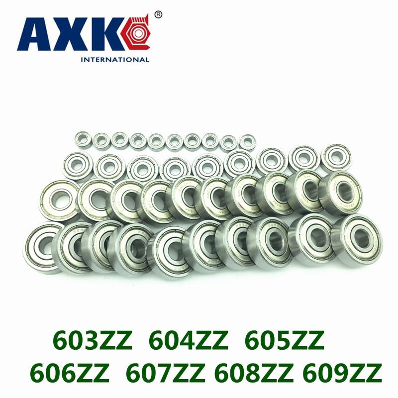 Free Shipping AXK high quality 10 PCS   603ZZ  604ZZ  605ZZ  606ZZ  607ZZ 608ZZ 609ZZ  Miniature Ball Bearings rtm875t 605 rtm875t 606 rtm875t 433