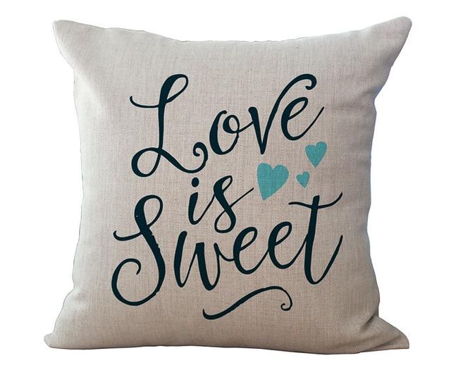 Kissen Für Liebhaber Englisch Brief Baumwolle Leinen Dekokissen Heim  Bettwäsche Dekorative Kissen Für Valentinstag Geschenke