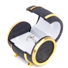 Plastic Beer Barrel Shape Velvet Ring Boxes Gift Earrings Jewelry Display Storage Box Lovely Wedding Velvet Earrings Ring Case цена и фото
