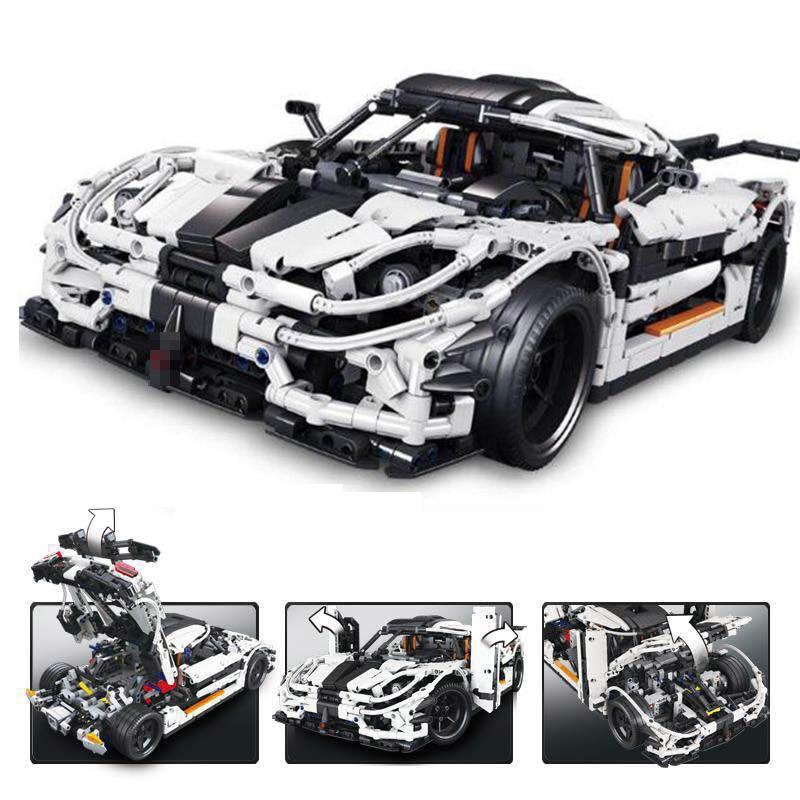 23002 3136Pcs серии Technicirn МПЦ-4789 изменение гоночный автомобиль модель строительный блок кирпичи игрушки подарок для детей