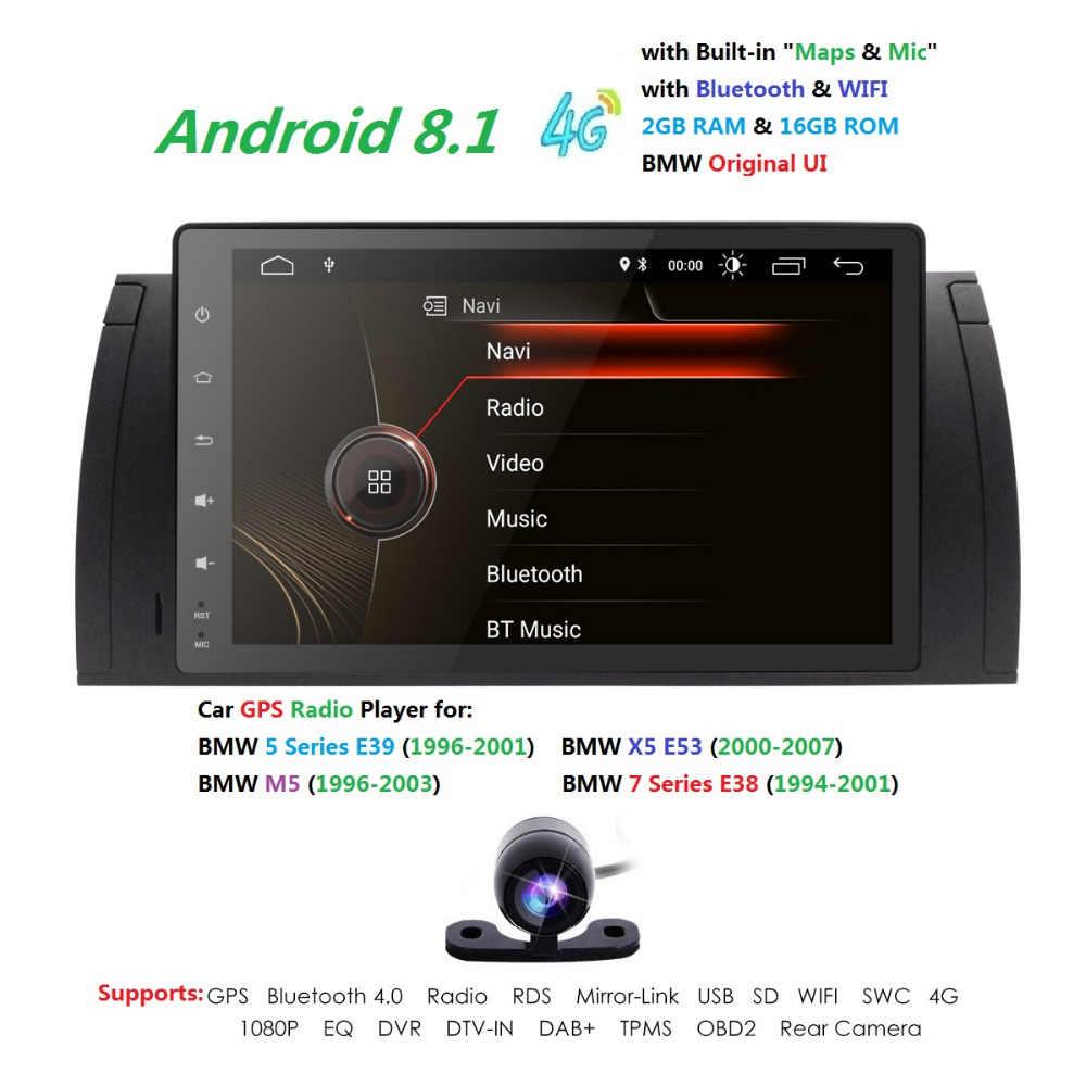 Hizpo Octa Core Android 8 1 Car GPS Navigation Multimedia Player Car Stereo  for BMW E39 2002-2007 Radio Headunit WIFI TPMS DAB+