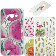 A520 cases for samsung GALAXY A5 2017 phone cover Soft silicone TPU Girl cat funda for coque SAMSUNG A5 2017 back cover Capa bag