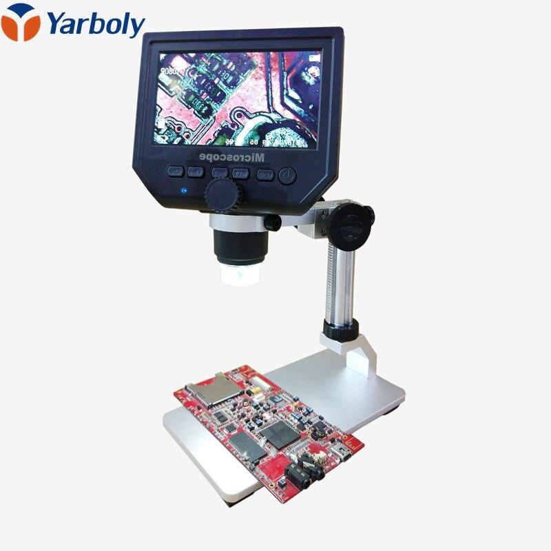 """1-600x 3.6mp USB цифровой электронный микроскоп Портативный 8 светодиодов vga микроскоп с 4.3 """"HD OLED Экран для печатной плате ремонт"""