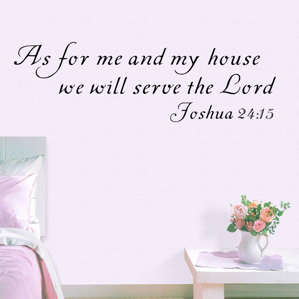 Natural Me Scripture Wall Decal Bible Verse As My House Joshua Me My House Joshua Homefamily Vinyl Decor X Wall Stickers From Home Garden Scripture Wall Decal Bible Verse As