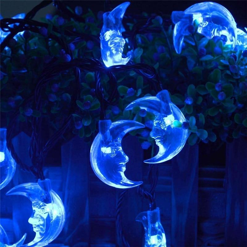 aliexpresscom buy premium waterproof ledertek 6m 30led solar christmas lights vivid moon solar powered fairy string light for outdoor gardens from