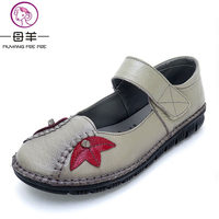 MUYANG MIE MIE Women Shoes Woman Genuine Leather Flat Shoes New Fashion Casual Mary Janes Shoes