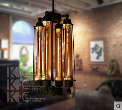 Edison Retro Loft Style Industrial Pendant Lamp Vintage Light  With 4 Lights ,Lamparas Lustres De Teto Techo Colgantes