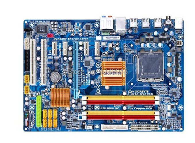 Free shipping original motherboard for gigabyte GA-EP43-US3L LGA 775 DDR2 16GB EP43-US3L  P43 desktop motherboard цена