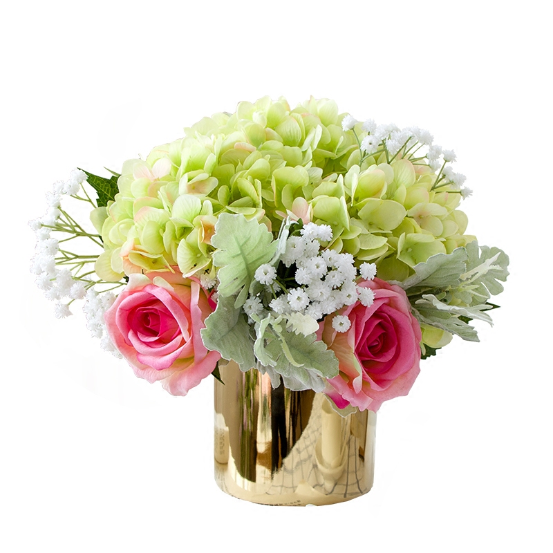 Wedding Bouquets Without Flowers: Artificial Flowers Bouquet Without Vase Silk Hydrangea