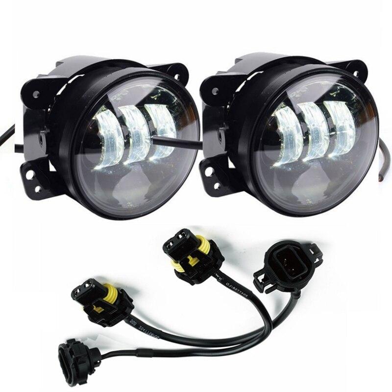 Светодиодные Противотуманные фары преобразование адаптер провода на 2010 год и Jeep Вранглер JK 9005/9006 в 5202/2504/Н16 подходят для JW динамик 6045 6145