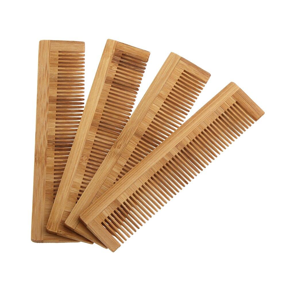 Деревянная расческа для волос для мужчин и женщин, Бамбуковая щетка для массажа волос, щетка для ухода за волосами, спа-массажер, аксессуары ...