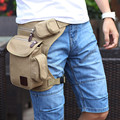 New Men's Canvas Hip Belt Bum Fanny Pack Waist Multifunction Leg Bag men women travel Waist Bag Money Belt Bag bolso cintura