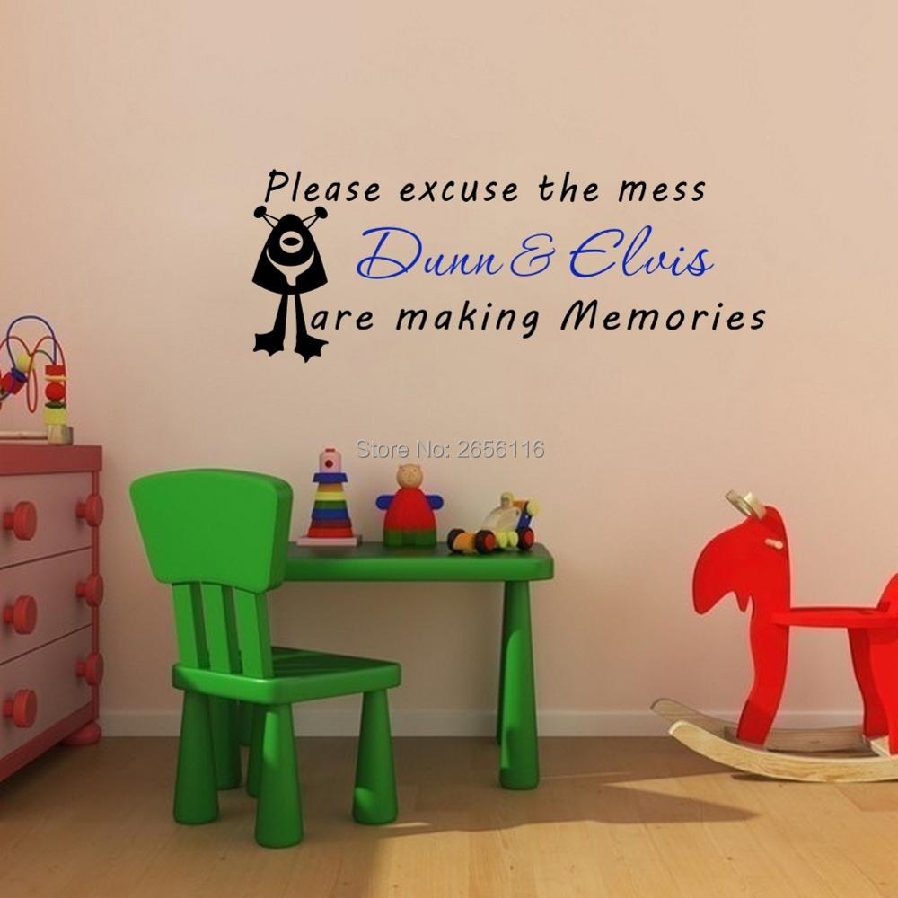 Quote wall decal picture more detailed picture about personalized boys girls name friendship wall stickers brothers sisters making memories kids quotes wall decals playroom amipublicfo Images