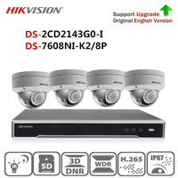 Hikvision Security Camera System Kit 4K POE NVR DS 7608NI K2/8P &4MP POE IP Camera DS 2CD2143G0 I For Home security systems