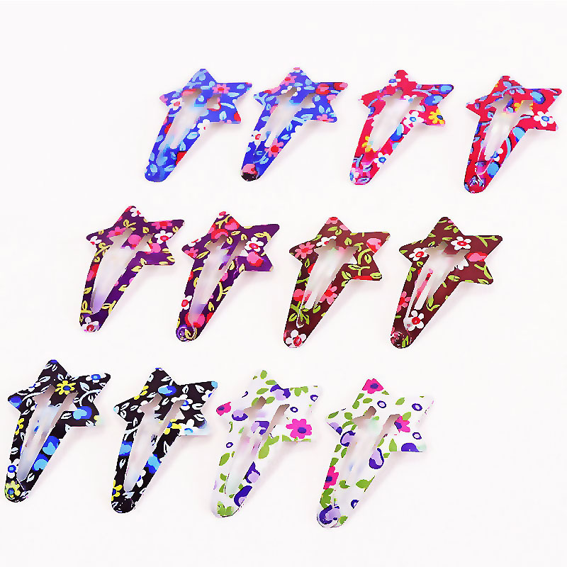 Accessories 7Shapes Hair Clip Hair   Headwear   1Pack(10/12PCS) Girl Cute Print Clips Colorful Hair LNRRABC Sale