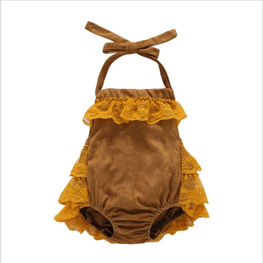 Lato noworodka dziewczynek koronki body bawełna bez rękawów - Odzież dla niemowląt - Zdjęcie 5