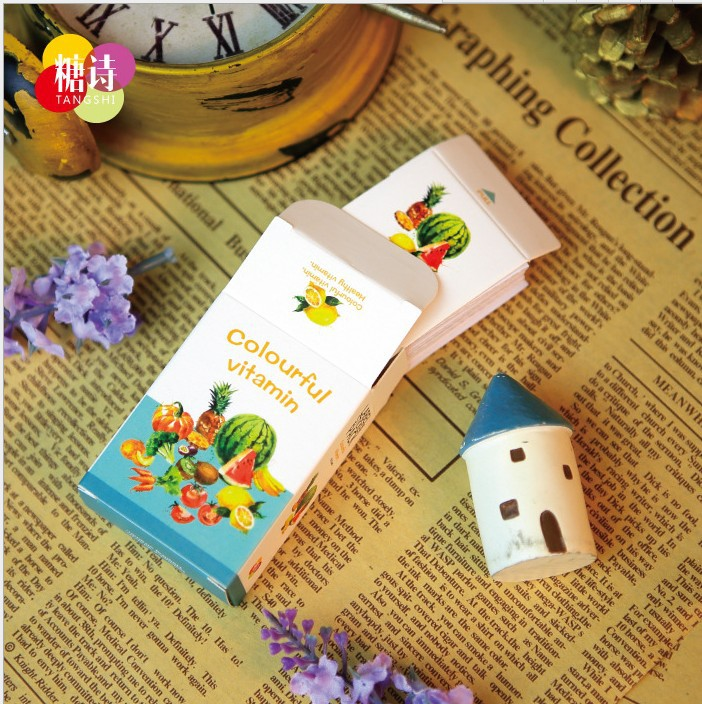 New DIY Cartoon Fruit garden kawaii stationery label sticker/52 sheets per set post it/note sticker/Decoration label