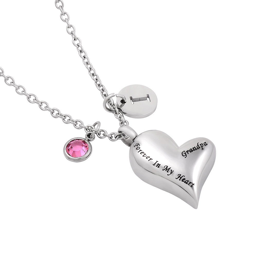 HEART IN SQUARE CREMATION URN KEEPSAKE PENDANT ASHES NECKLACE CHARM PERSONALISED