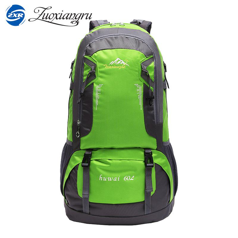 ZUOXIANGRU 60 Liter High Capacity Unisex Waterproof Trekking Backpacks 40L Brand Designer High Quality Women Men Oxford Travelin цена и фото