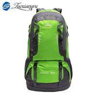 ZUOXIANGRU 60 Liter High Capacity Unisex Waterproof Trekking Backpacks 40L Brand Designer High Quality Women Men