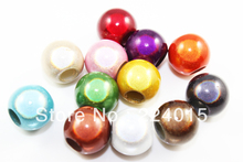 Freeshipping!200pcs/11*12mm Big Hole Acrylic Round Spacer Miracle Beads/Perles Magiques Beads Fit  Jewelry & Necklace Findings