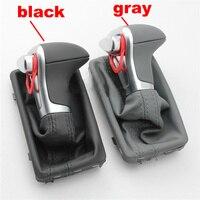 car Leather Chrome GEAR Shift Knob shift knobs FOR AUDI A6 A7 A3 A4 A5 A6 c6 Q7 Q5 2009 2010 2011 2012 2014 4G1 713 139 R