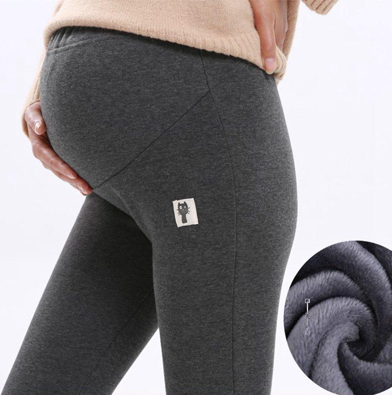 billiger Verkauf ziemlich cool neueste US $8.96 30% OFF|Mutterschaft dicke kaschmir winter leggings schwangere  frauen baumwolle warme hose größe XL 50 52 mutter lässig weichen samt ...