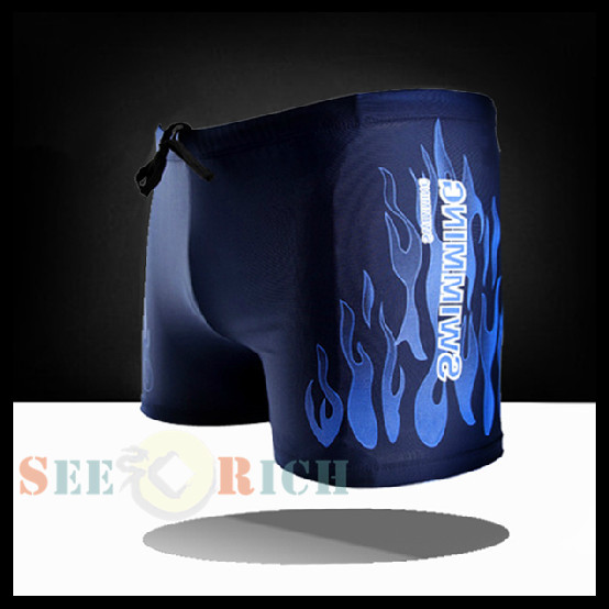 200p! Hot Flame Sexy Men Swimwear Board Shorts Swimwear Fitness Compression Pro Man Boxer Trunks Beach Hot Spring Big Yards