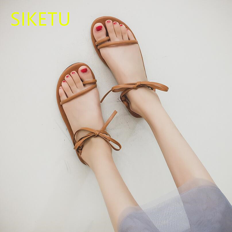 SIKETU Free shipping Summer sandals Fashion casual shoes sex women shoes flip flop Flat shoes Flats l047 NEW Bohemia new women sandals low heel wedges summer casual single shoes woman sandal fashion soft sandals free shipping