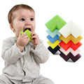 4Pcs/lot 60*60*12mm Soft Baby Safe Corner Protector Baby Kids Table Desk Children Safety Edge Guards Corner Guard