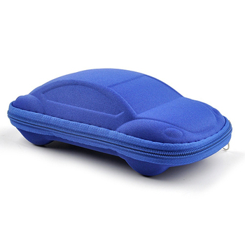 Newest Kids Children Toddler Fashion Portable Lightweight Car Shaped Glasses Case Box image