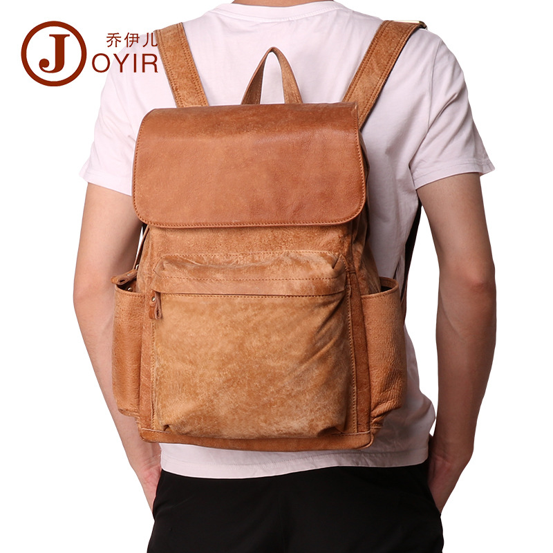 Vintage Natural Nubuck Cow Leather Men Backpack Perfect Quality Genuine Leather Mens Rucksack Vintage Natural Nubuck Cow Leather Men Backpack Perfect Quality Genuine Leather Mens Rucksack