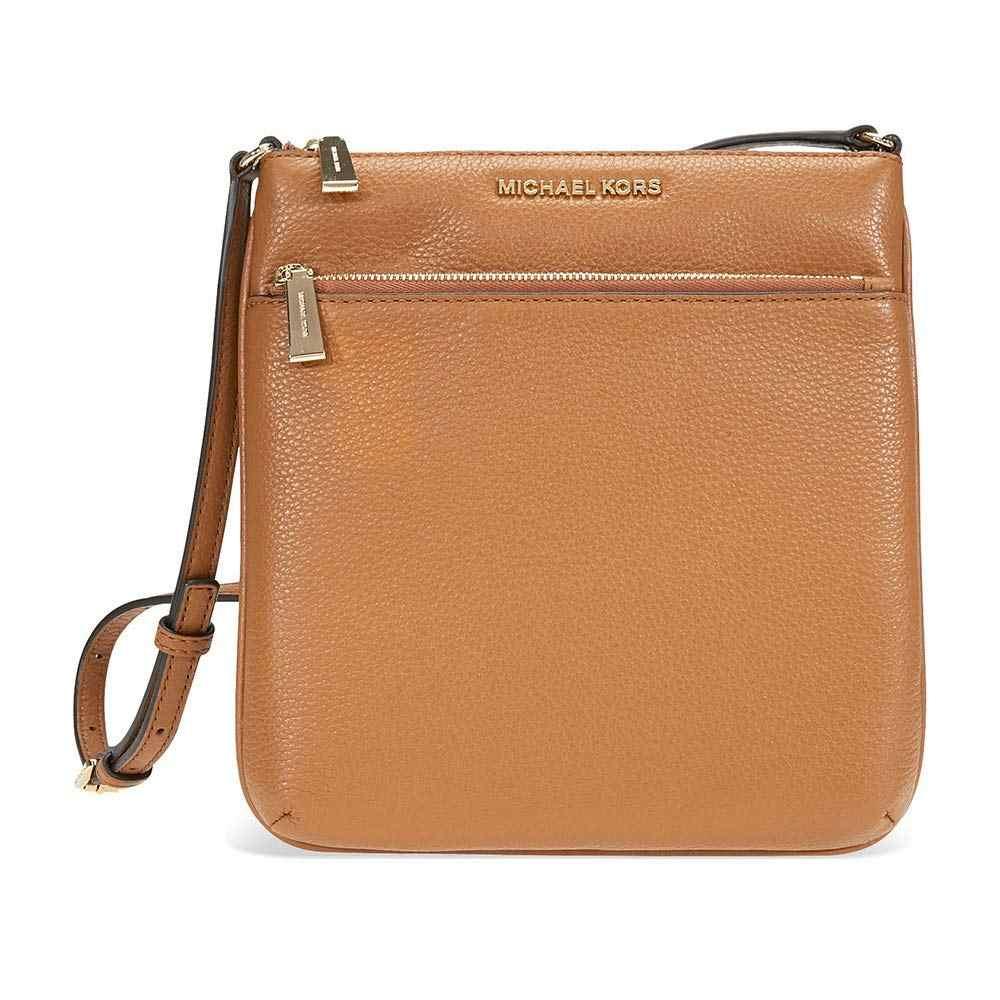 71597cc280aa ... Michael Kors Riley Small Pebbled-Leather Crossbody (Acorn/Gold) Luxury  Handbags For ...