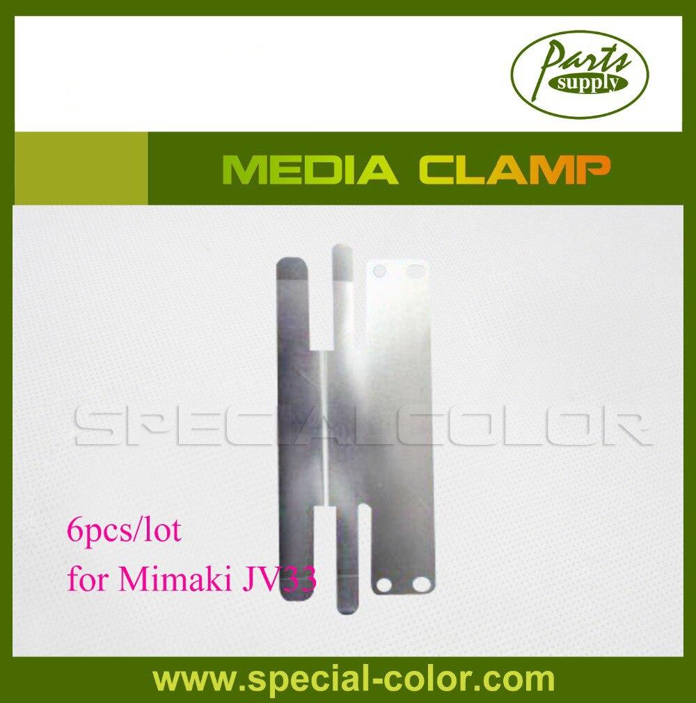 Wholesale 6pcslot Mimaki JV33 Printer Media Clamp (OEM)