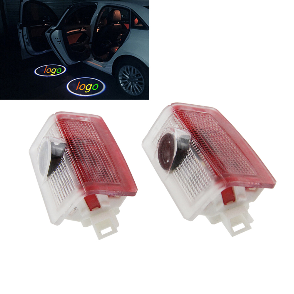 FOR Benz E A B C ML Class w212 w166 w176, 2pcs LED Car door courtesy laser projector Logo Ghost Shadow Light