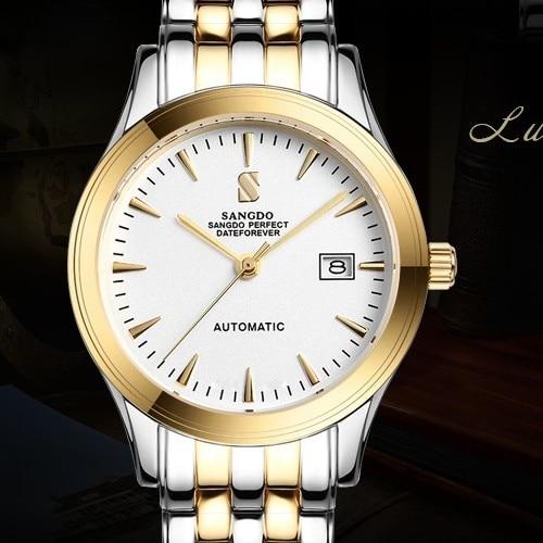 ФОТО 38MM SANGDO men's watch Sapphire mirror Automatic Self-Wind movement  High quality Luxury Mechanical watches 321
