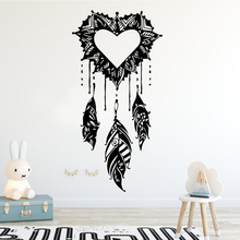 цена на Love Pattern Wall Sticker Home Decoration Accessories Self Adhesive Wall Stickers for Living Room Bedroom DIY Vinyl Wall Decal