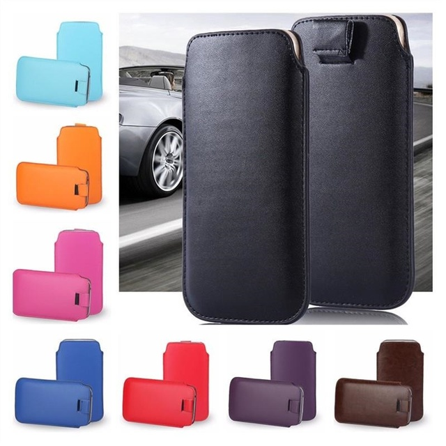 san francisco 57d17 b9f6b US $1.89 5% OFF|For iphone 8 plus 7 plus case Universal Pull Tab Leather  Case For Apple iphone XS Max 6 plus 6s 5 5s 4 4s Phone Pouch Bag cover -in  ...